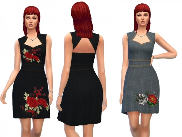 The Sims Resource: Womens Dress by Louisa 1