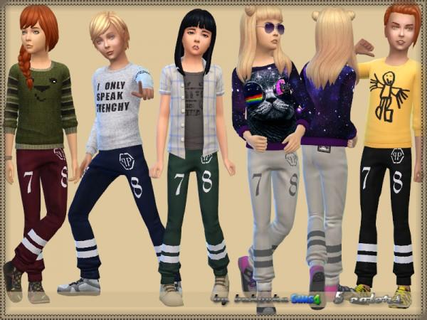 The Sims Resource: Pein Pants by bukovka