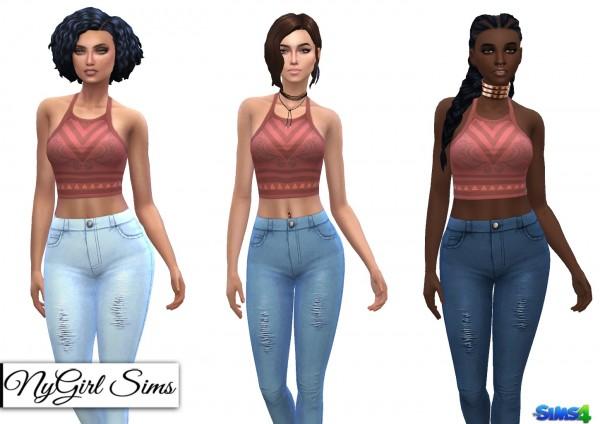 NY Girl Sims: High Waist Skinny Jeans