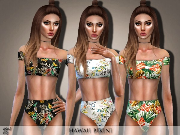 The Sims Resource: Hawaii Bikini by Black Lily