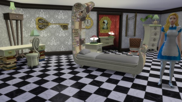 Mon Sims: Through the Spy Glass bedroom