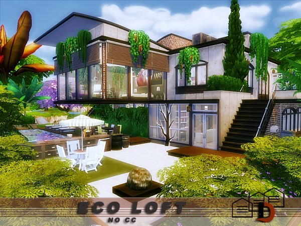 The Sims Resource: Eco Loft by Danuta720
