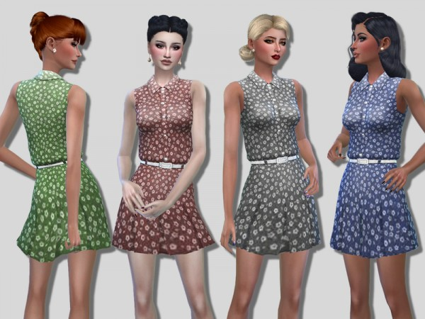 The Sims Resource: Babette dress by Simalicious