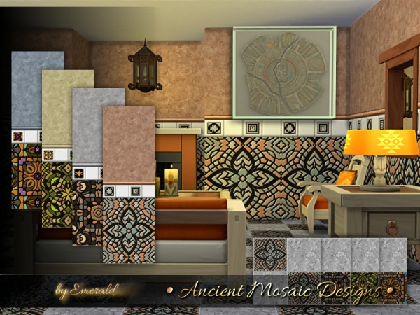 The Sims Resource: Ancient Mosaic Designs by emerald