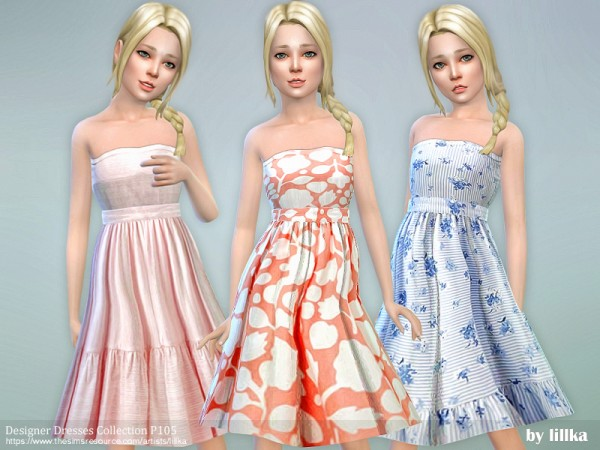 The Sims Resource: Designer Dresses Collection P105 by lillka
