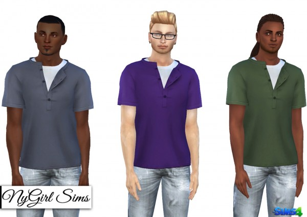 NY Girl Sims: Short Sleeve Loose Pullover