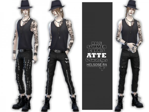 The Sims Resource: ATTE   Summer Capris Pants by Helsoseira