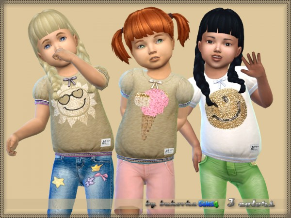 The Sims Resource: Shirt Girls by bukovka