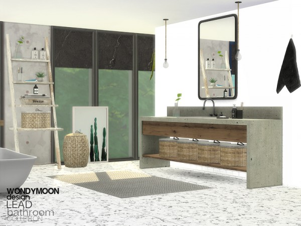 The Sims Resource: Lead Bathroom by wondymoon