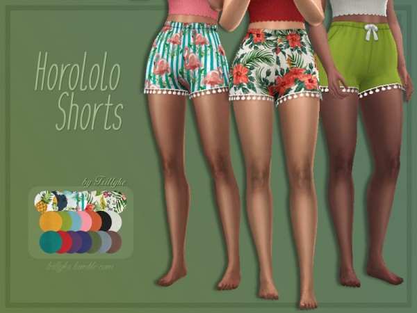 The Sims Resource: Horololo Shorts by Trillyke