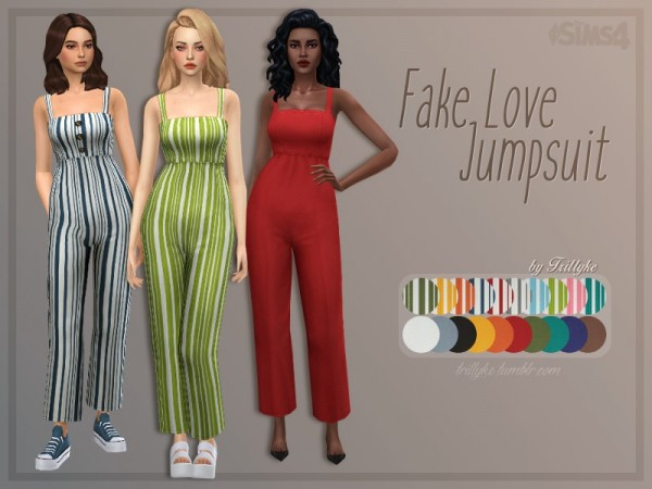 The Sims Resource: Fake Love Jumpsuit by Trillyke
