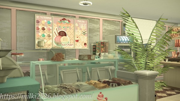 Milki2526: Flower shop with apartment