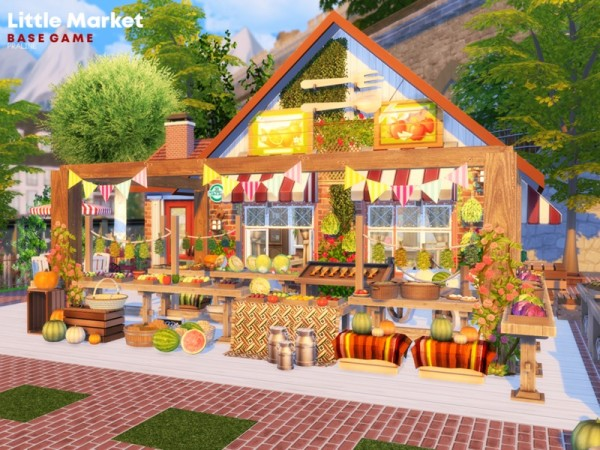 The Sims Resource: Little Market by Pralinesims