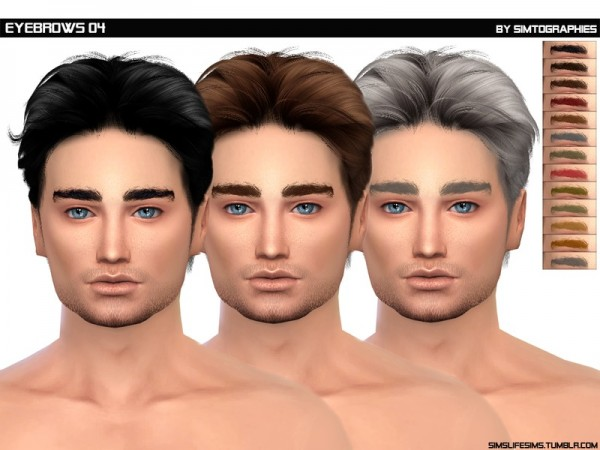 The Sims Resource: Eyebrows 04 by simtographies