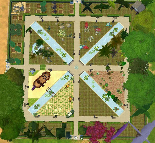 Mod The Sims: A new geometric park by valbreizh