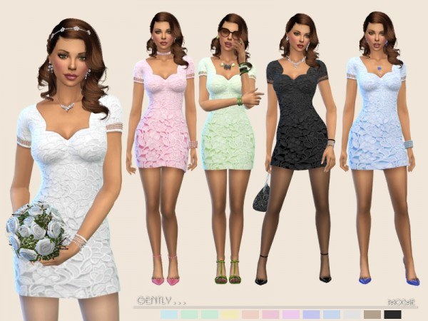 The Sims Resource: Gently dress by Paogae
