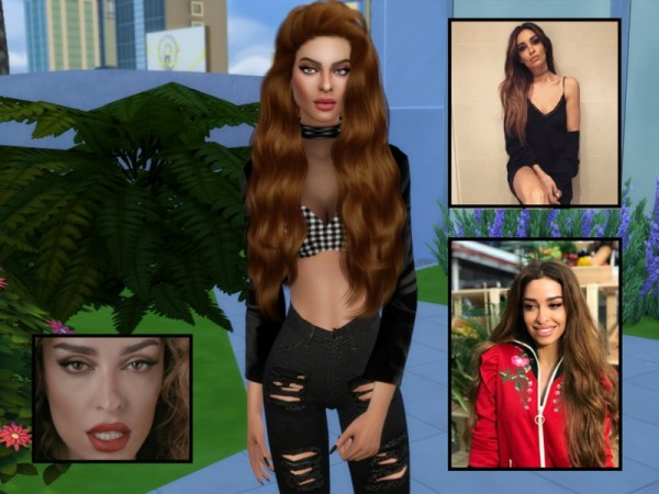 The Sims Resource: Eleni Foureira by divaka45