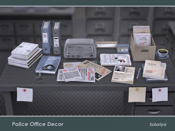 The Sims Resource: Police Office Decor by soloriya