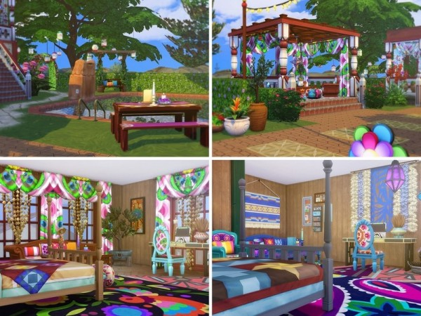 The Sims Resource: Boho Paradise house by MychQQQ