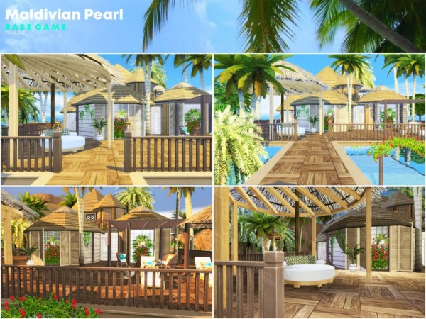 The Sims Resource: Maldivian Pearl house by Pralinesims