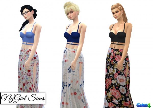 NY Girl Sims: Two piece sundress with cage tank