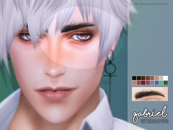 The Sims Resource: Gabriel   Eyebrows by Screaming Mustard