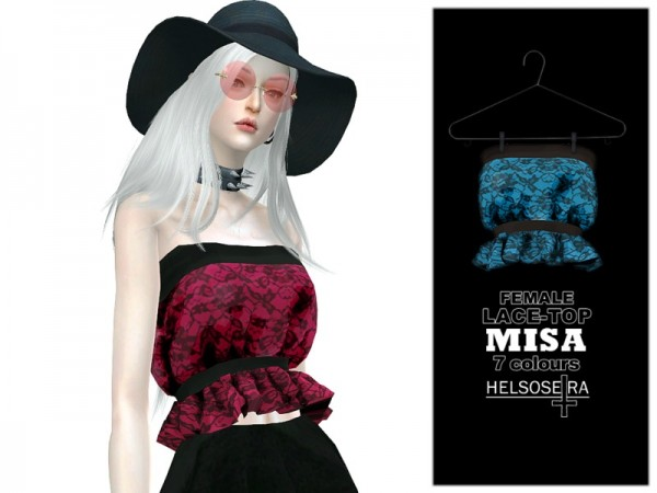 The Sims Resource: MISA   Lace Top by Helsoseira