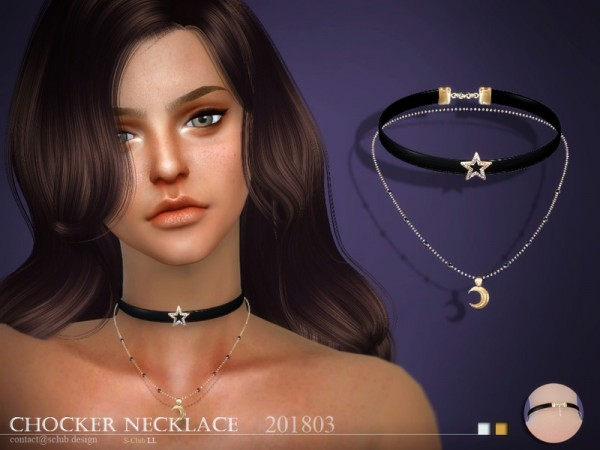 The Sims Resource: Necklace F 201803 by S Club