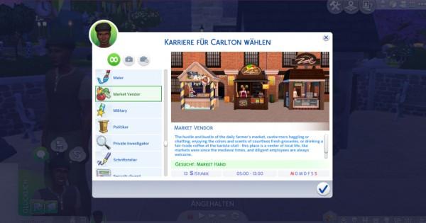 Mod The Sims: Market Vendor Career by Marduc Plays
