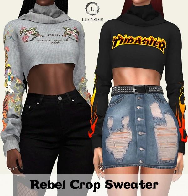 LumySims: Rebel crop sweater