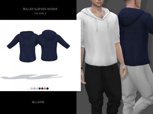 The Sims Resource: Rolled Sleeves Hoodie by Bill Sims