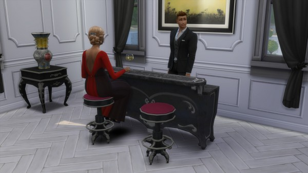 Mod The Sims: Dark Lux Bar and Barstool by TheJim07