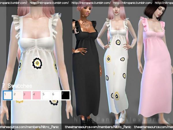 The Sims Resource: Alexa Dress by Nitro Panic