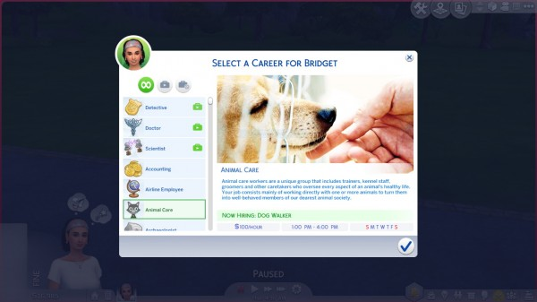 Mod The Sims: Animal Care Career by kittyblue