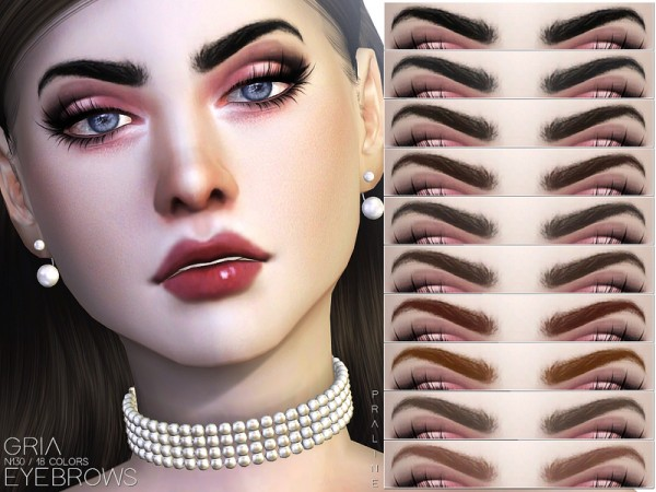 The Sims Resource: Gria Eyebrows N130 by Pralinesims