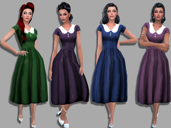 The Sims Resource: Audrey dress by Simalicious