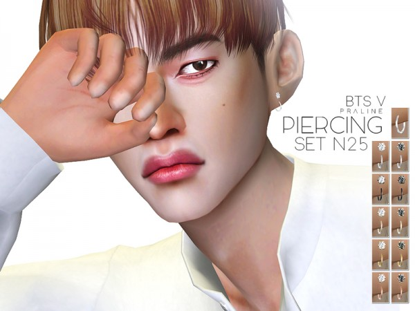 The Sims Resource: Piercing Set N25 by Pralinesims
