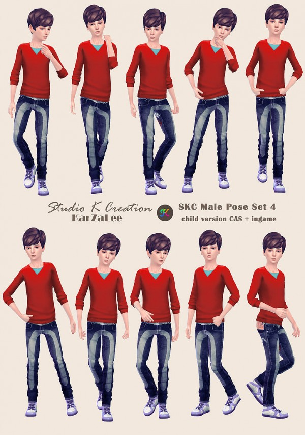 Studio K Creation: Male Pose Set 4 Child version