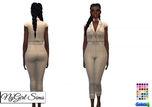 NY Girl Sims: Safari Capri Jumpsuit