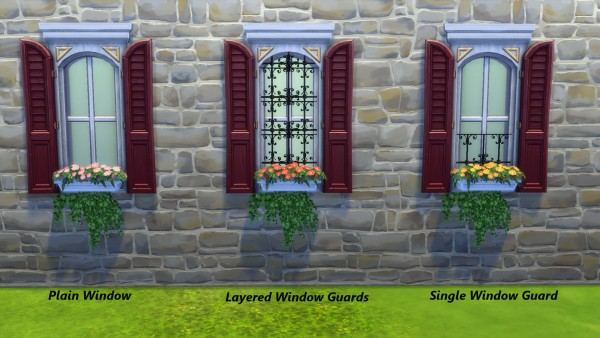 Mod The Sims: Max Window Guards by Snowhaze