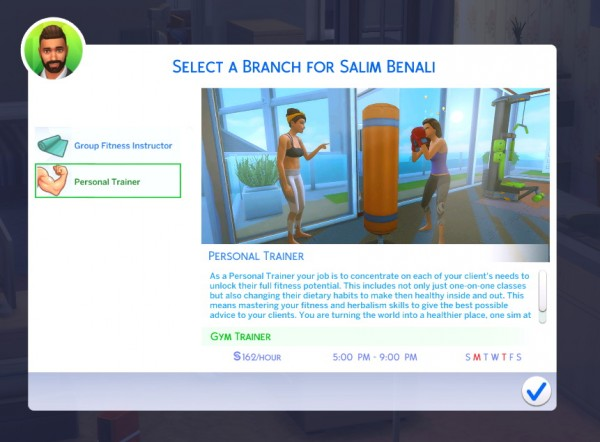 Mod The Sims: Fitness Instructor Career by PinkySimsie