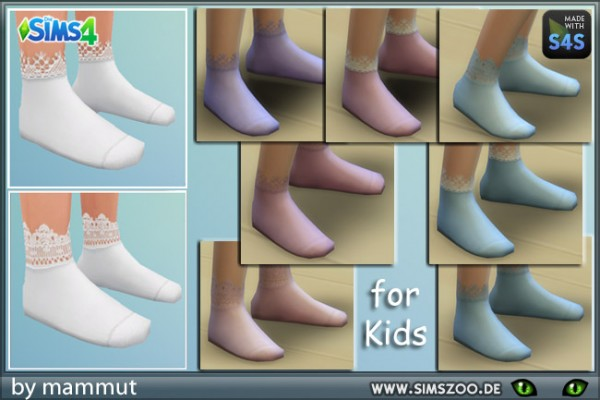 Blackys Sims 4 Zoo: Lace socks 1 by mammut