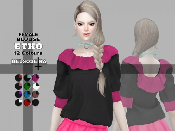 The Sims Resource: ETKO Blouse by Helsoseira