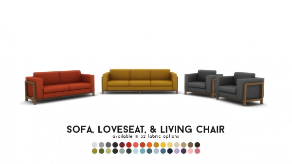 Simsational designs: Vara Lounge   Exposed Frame Seating