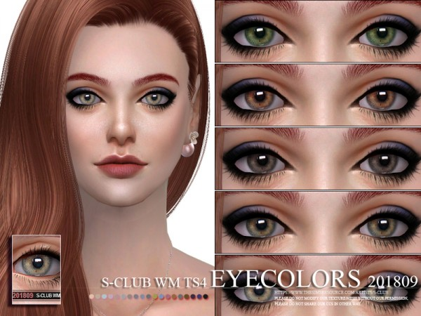 The Sims Resource: Eyecolors 201809 by S Club
