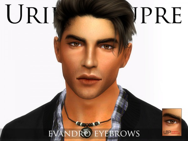 The Sims Resource: Evandro eyebrows by Urielbeaupre