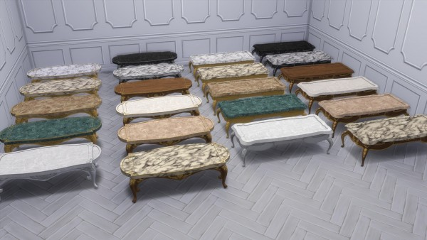 Mod The Sims: Dark Lux Coffee Tables by TheJim07