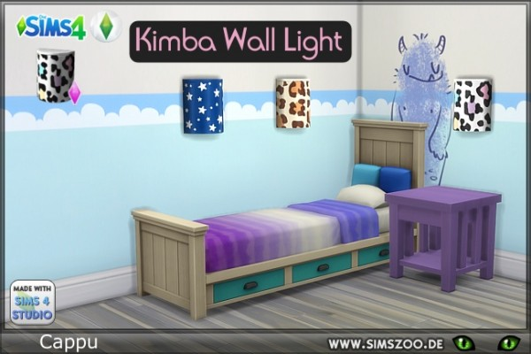 Blackys Sims 4 Zoo: Kimba Wall Light by Cappu
