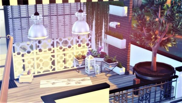 Agathea k: White modern house by the river