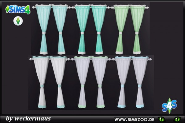 Blackys Sims 4 Zoo: Mint curtains by  weckermaus